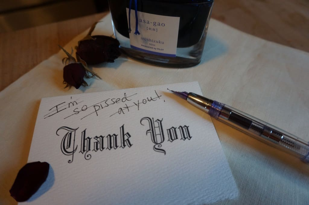 How to Say Thank You When You Are Really Pissed Off